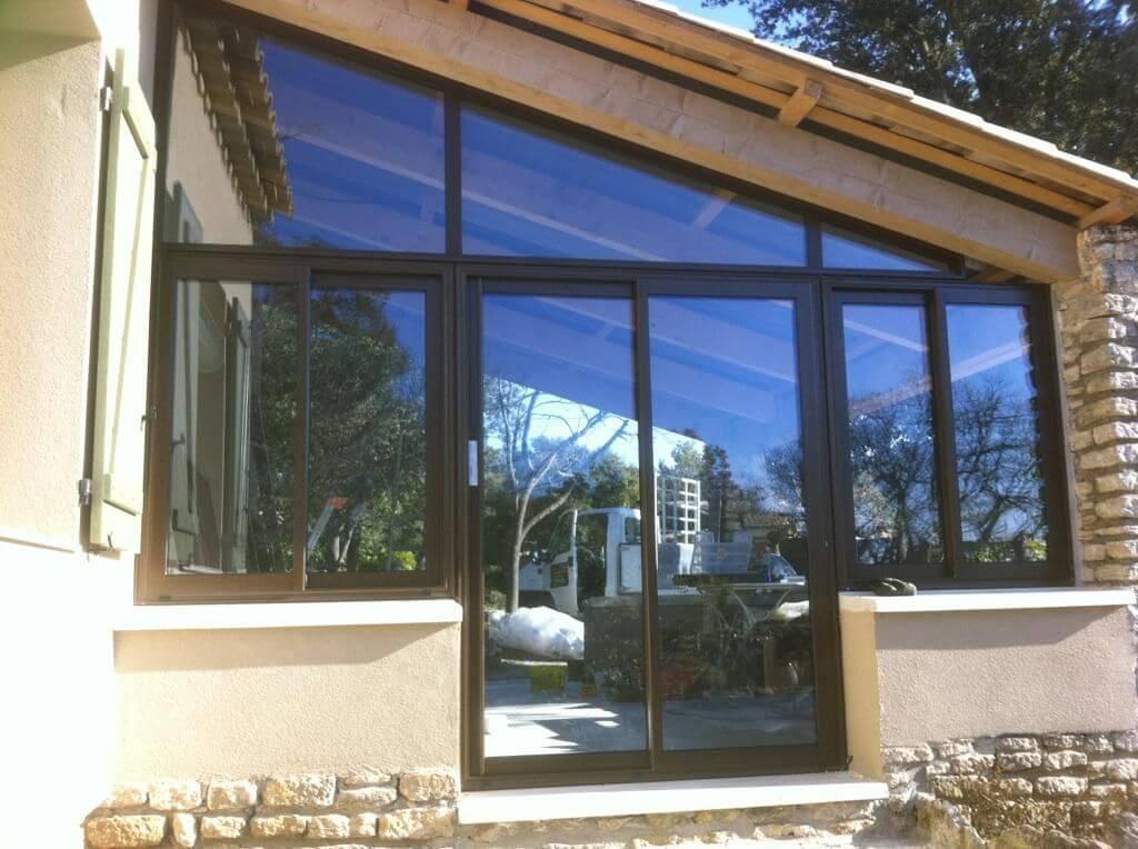 fermeture d 39 une terrasse existante en alu les portes du luberon. Black Bedroom Furniture Sets. Home Design Ideas